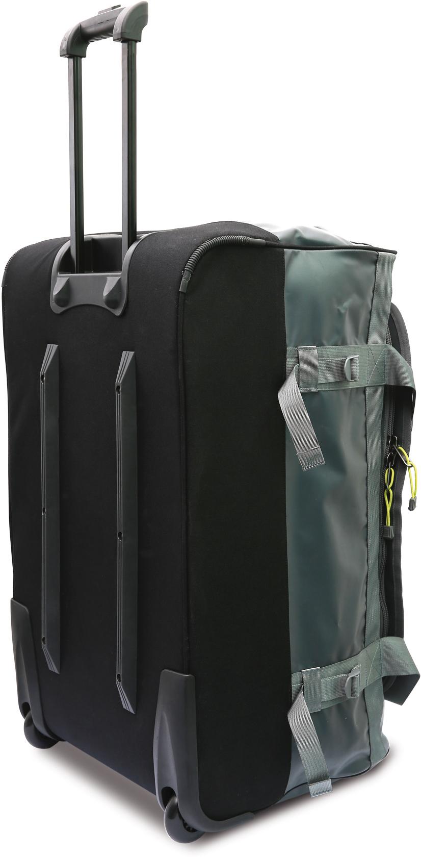 Roller Duffle Bag šedý stojící s vysunutým držadlem