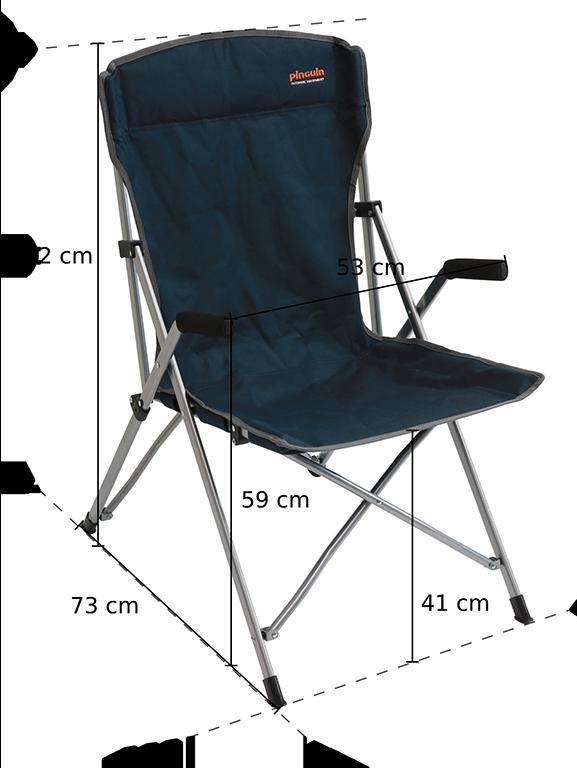Kempingový židle Guide Chair - rozměry