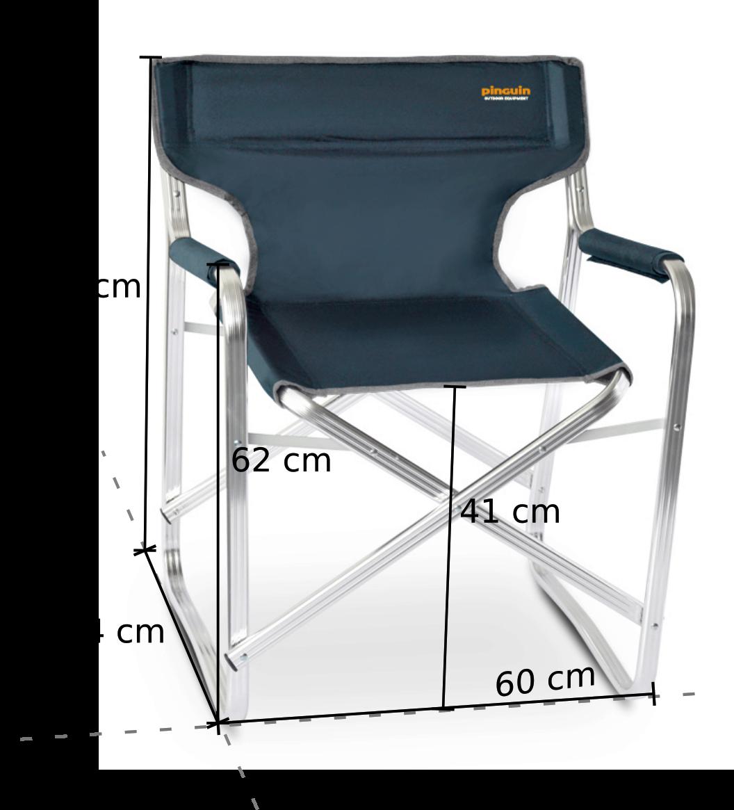 Kempingový židle Director Chair - rozměry