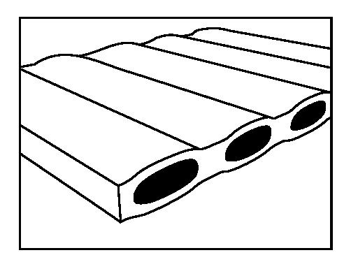 Jednoduchá vrstva horizontálních komor