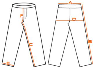 Vzor pro měření velikostních tabulek kalhot
