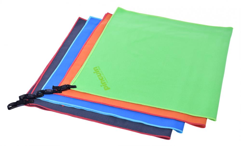 Outdoorový froté ručníky Micro Towel šedá, modrá, oranžová a zelená