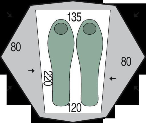 půdorys stanu Aero 2