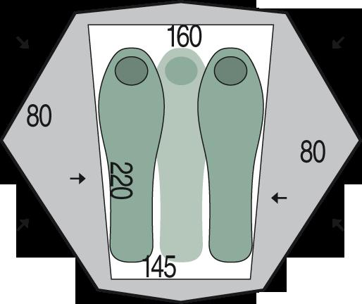 půdorys stanu Aero 3