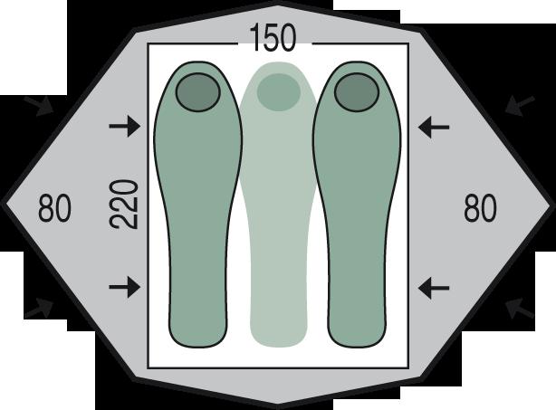 půdorys stanu Gemini 150