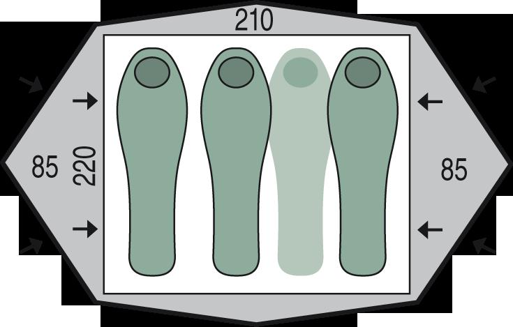 půdorys stanu Gemini 210