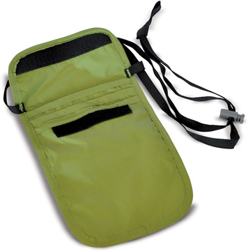 Neck Security Pocket S green open