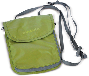 neck security pocket L green