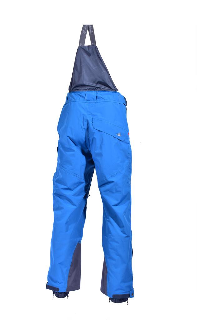 kalhoty freeride modré zezadu