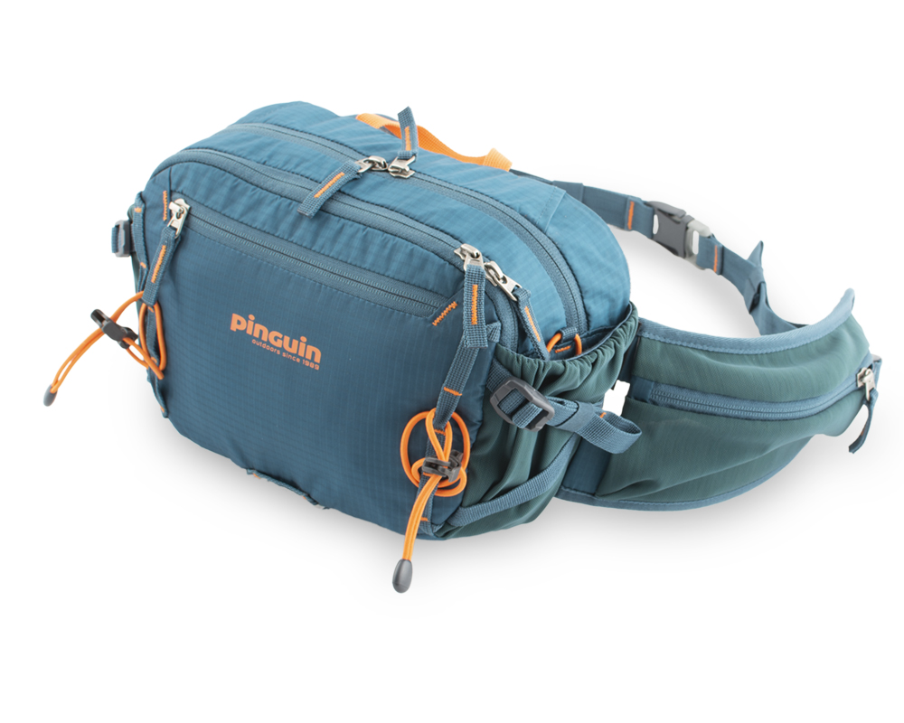 Hip bag - V-compression straps on the sides of the bag for a perfect fit to the body.