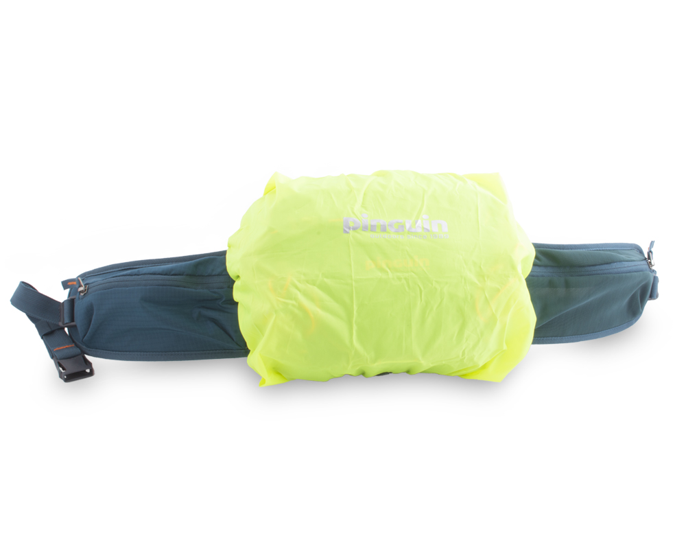 Hip bag - Distinctive raincover in a separate pocket at the bottom of the bag.