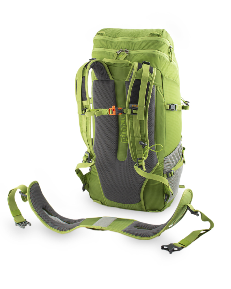 Trail 42 green - Detachable, lightweight waist belt for better fit to the hips and better ventilation.