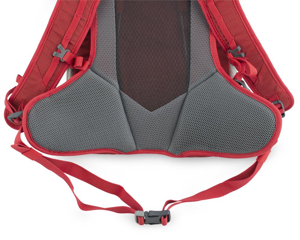 Ride 19 red - bederní popruh s centrálními křídélky pro pohodlné usazení batohu na zádech a eliminaci jeho pohybu