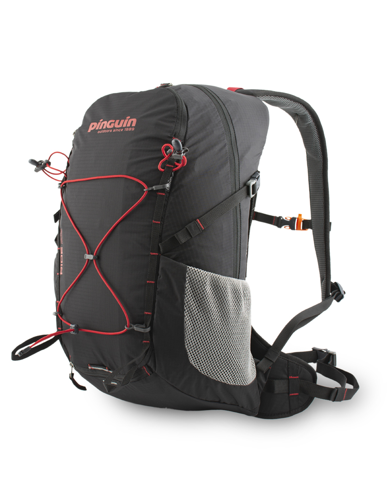 Ride 25 black - Removable elastic band on the front of the backpack for easy attachment of easily accessible equipment (windbreaker etc.).