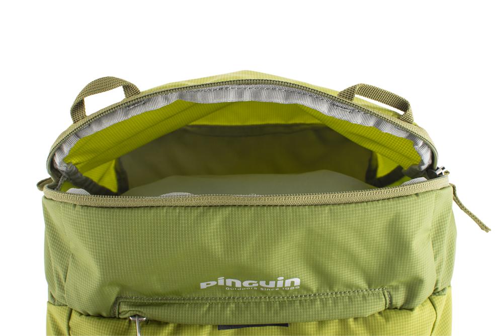 Activent 48 green - vnější zipová kapsa na víku vhodná k uložení rychle dostupného vybavení (např. lékárny) a potravy