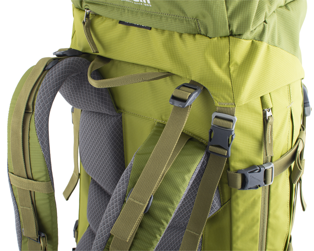 Activent 48 green - Balance straps on the upper part of the shoulder straps and on the sides of the waist belt for perfect fit of the backpack on the back and eliminate its movement while walking.