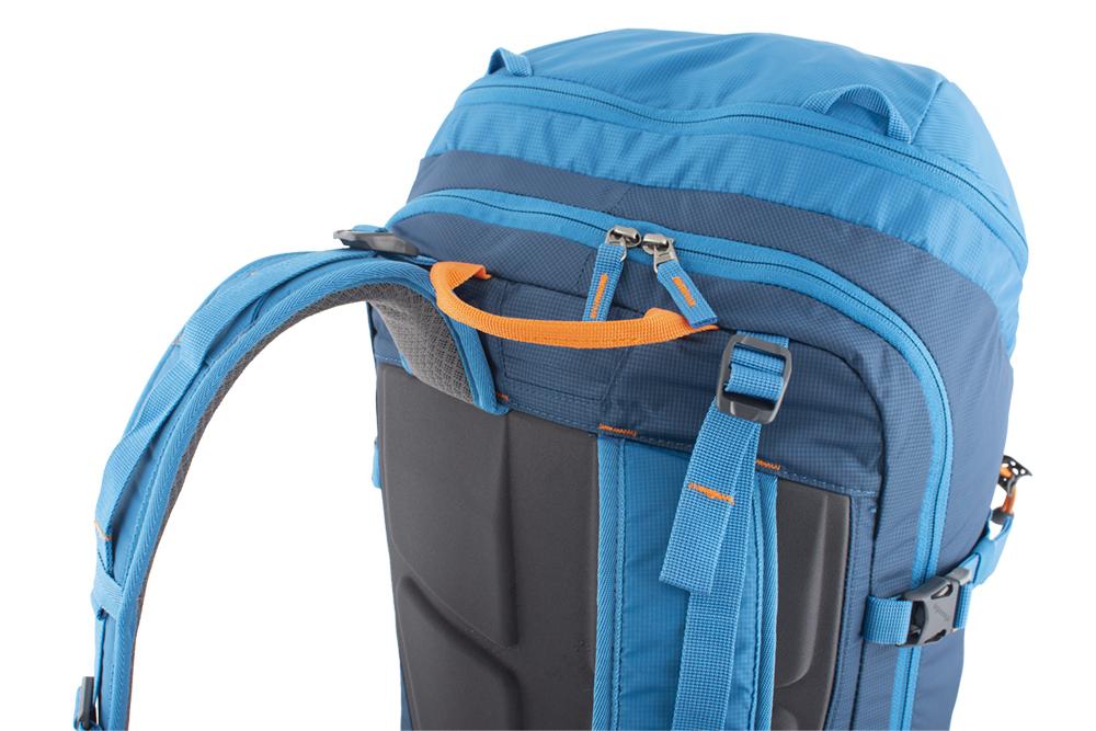 Ridge 28 petrol - balanční popruhy v horní části ramenních popruhů pro dokonalé usazení batohu na zádech