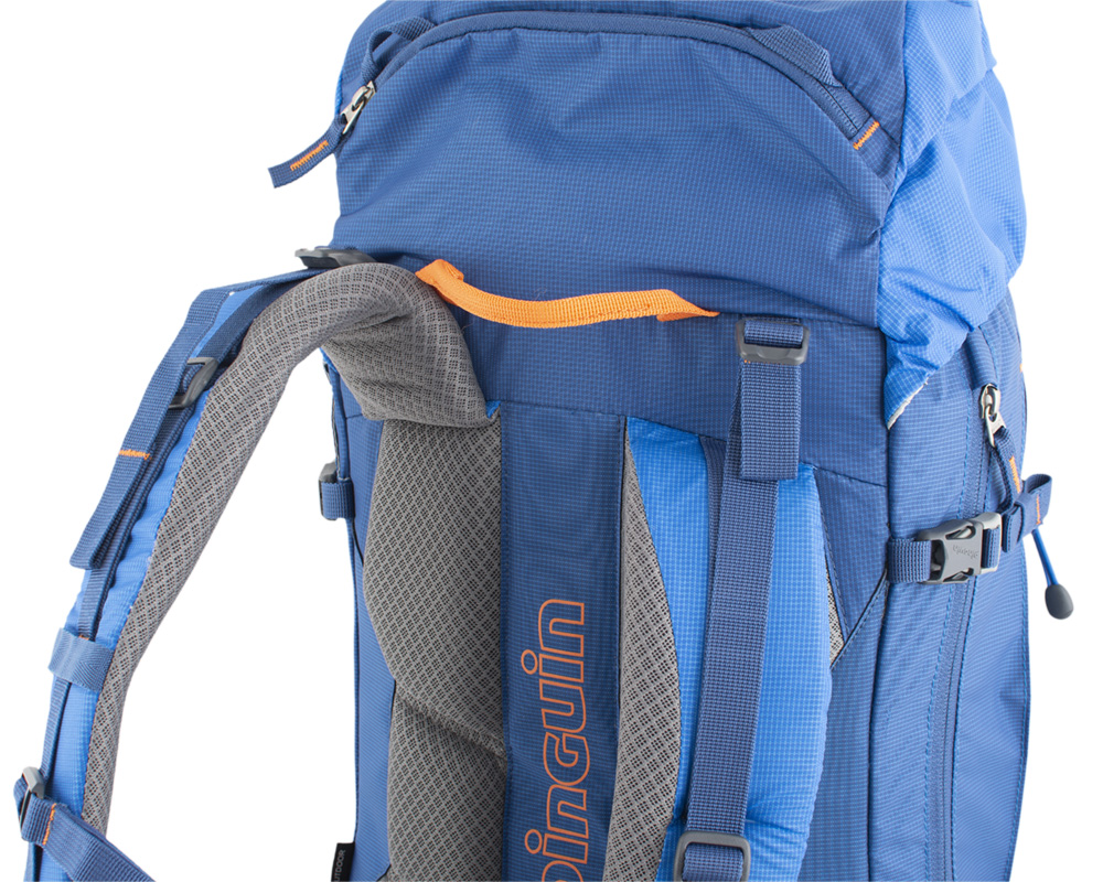 Boulder 38 blue - Strong shoulder straps with reinforced padding to maintain comfort when transporting heavy loads.