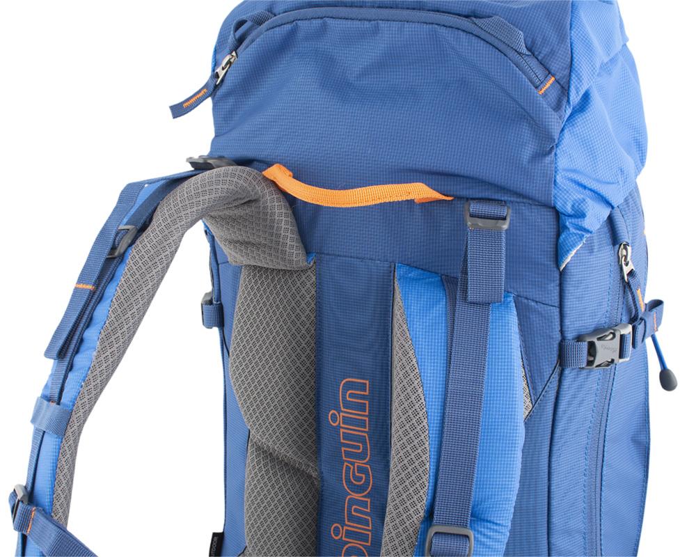 Boulder 38 blue - pevné ramenní popruhy se zesíleným polstrováním pro zachování komfortu i při transportu těžkého nákladu