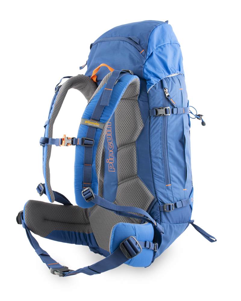 Boulder 38 blue - Balance straps on the upper part of the shoulder straps and on the sides of the waist belt for perfect fit of the backpack and elimination of its movement while walking