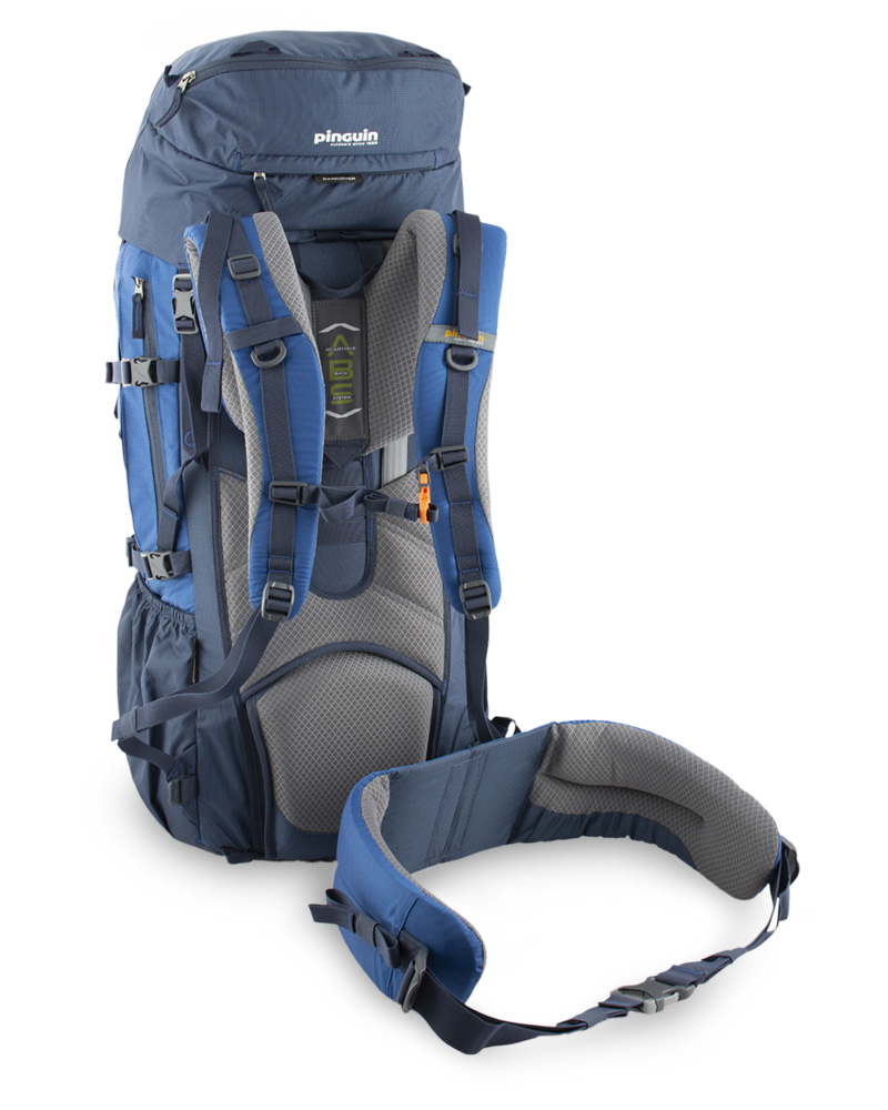 Explorer 100 navy - Detachable waist belt helps to effectively distribute the weight of the carried load between the hips and shoulders.