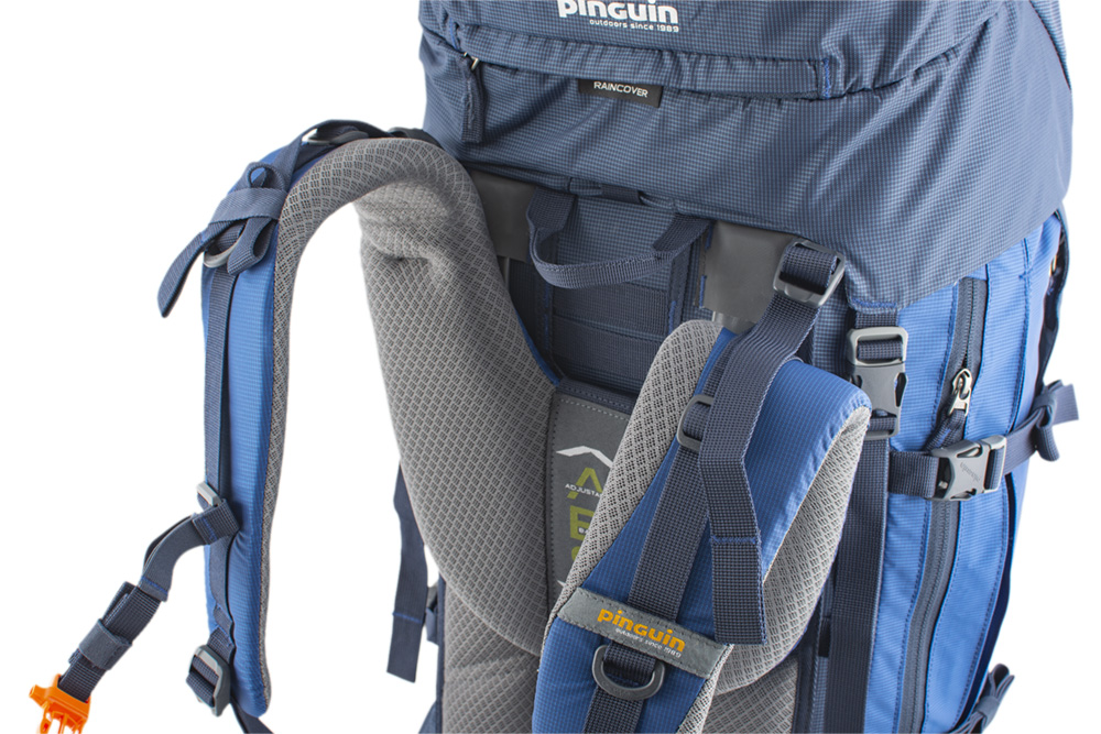 Explorer 100 navy - Balance straps on the upper part of the shoulder straps and on the sides of the waist belt for perfect fit of the backpack on the back and elimination of its movement while walking