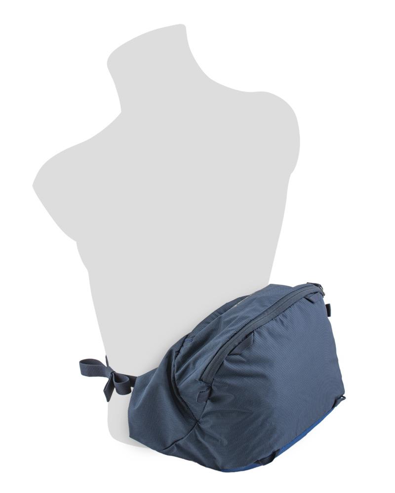 Explorer 75 navy - snadno odepínatelné prostorné víko batohu se dá použít jako ledvinka