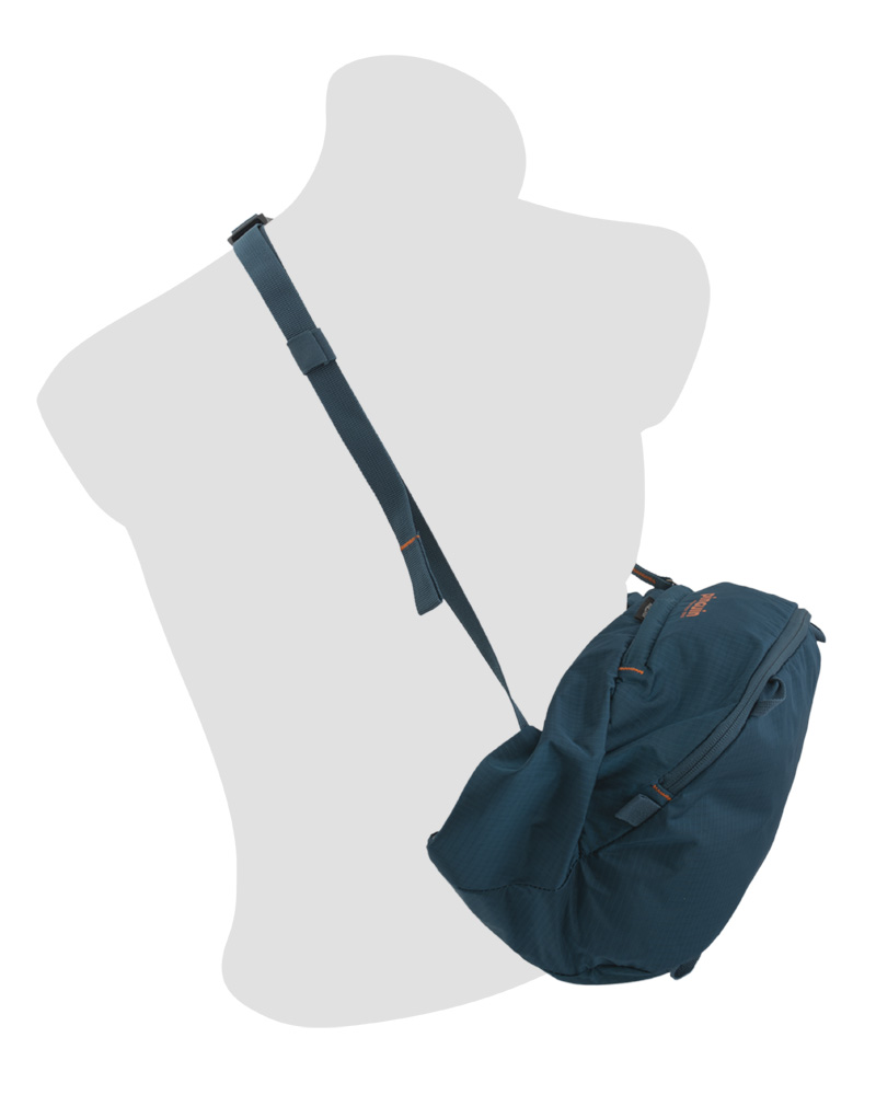 Walker 50 petrol - Easily detachable spacious backpack lid can be used as a bag or shoulder bag.