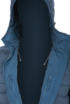 Summit Men Navy - inner chest pockets and hoody strings