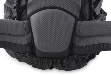 Raincover L - black backpack waistbelt attachment