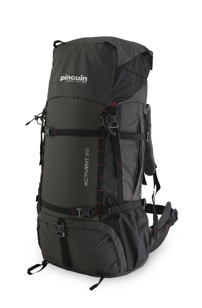 Activent 55 black - prostorné boční zipové kapsy pro snadný přístup např. k potravinám, rukavicím nebo bundě. Pár horizontálních popruhů pro snadné přichycení stanu nebo sněžnic z čela batohu nebo lyží a dalšího vybavení na jeho bocích.