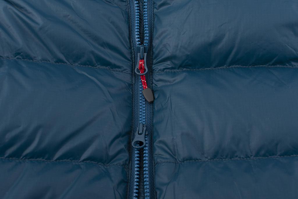 Mont Jacket - hlavní zip se dvěma jezdci