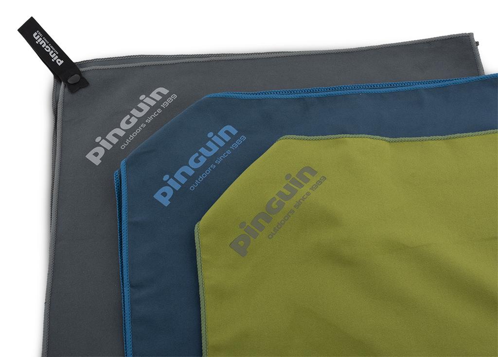 Outdoorový froté ručníky Micro Towel šedá, modrá a zelená