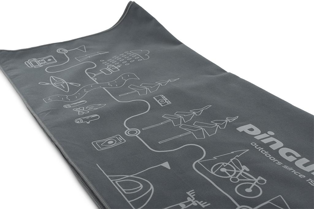 Outdoorový ručník Micro Towel Map šedá