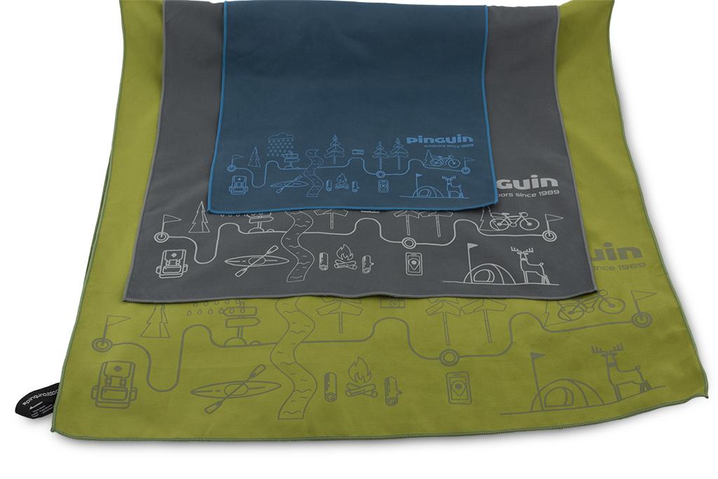 Outdoorové ručníky Micro Towel šedá, modrá, a zelená