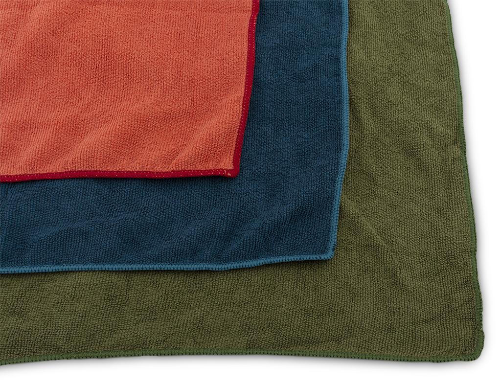 Outdoorový froté ručníky Terry Towel červená, zelená, modrá
